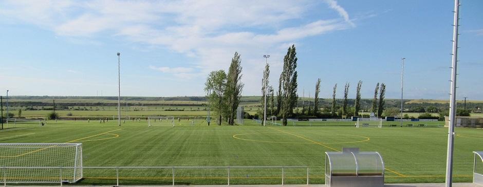 Blick auf Amsdorfer Gelände
