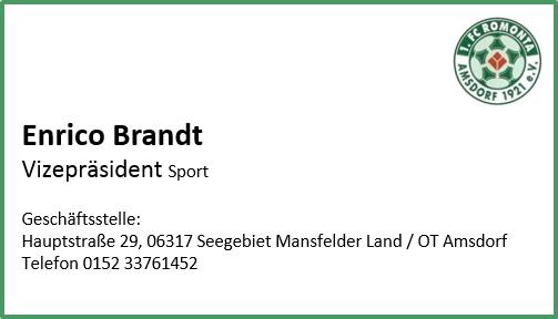 Visitenkarte Brandt